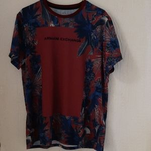 Armani Exchange women top Size XL red with flowers